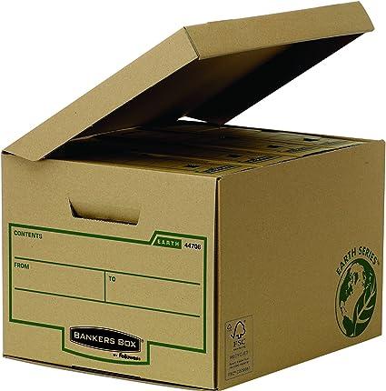 Bankers Box Earth Series - Contenedor de archivos tapa fija, normal, marrón