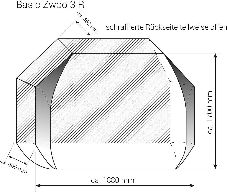 Hindermann Fahrradschutzhülle Basic Zwoo 3 Fahrräder 8470 2460 Bike Cover