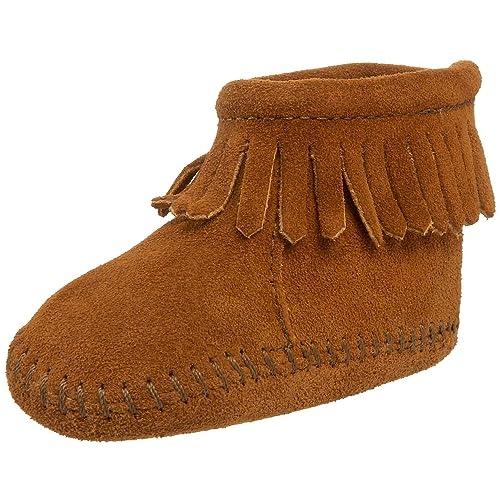 Minnetonka - Mocasines para Bebés, color Marrón (Brown), talla 19: Amazon.es: Zapatos y complementos