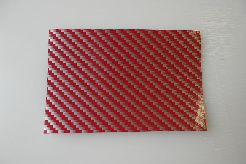 Könighaus 2d Carbon rojo pantalla 500x 152cm burbujas con instrucciones (Auto Pantalla)