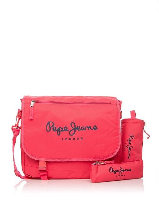 Pepe Jeans Set de bolso bandolera + 2 estuches Fucsia ...