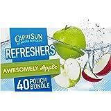 Capri Sun Fruit Refreshers Ready-to-Drink Juice, Apple, 240 Fl Oz (Pack of 4)