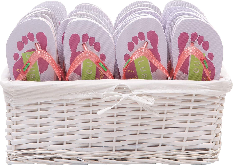 c94c55130 Zohula Flip Flops Wedding Favour Baskets - 20 Pairs - Choice of ...