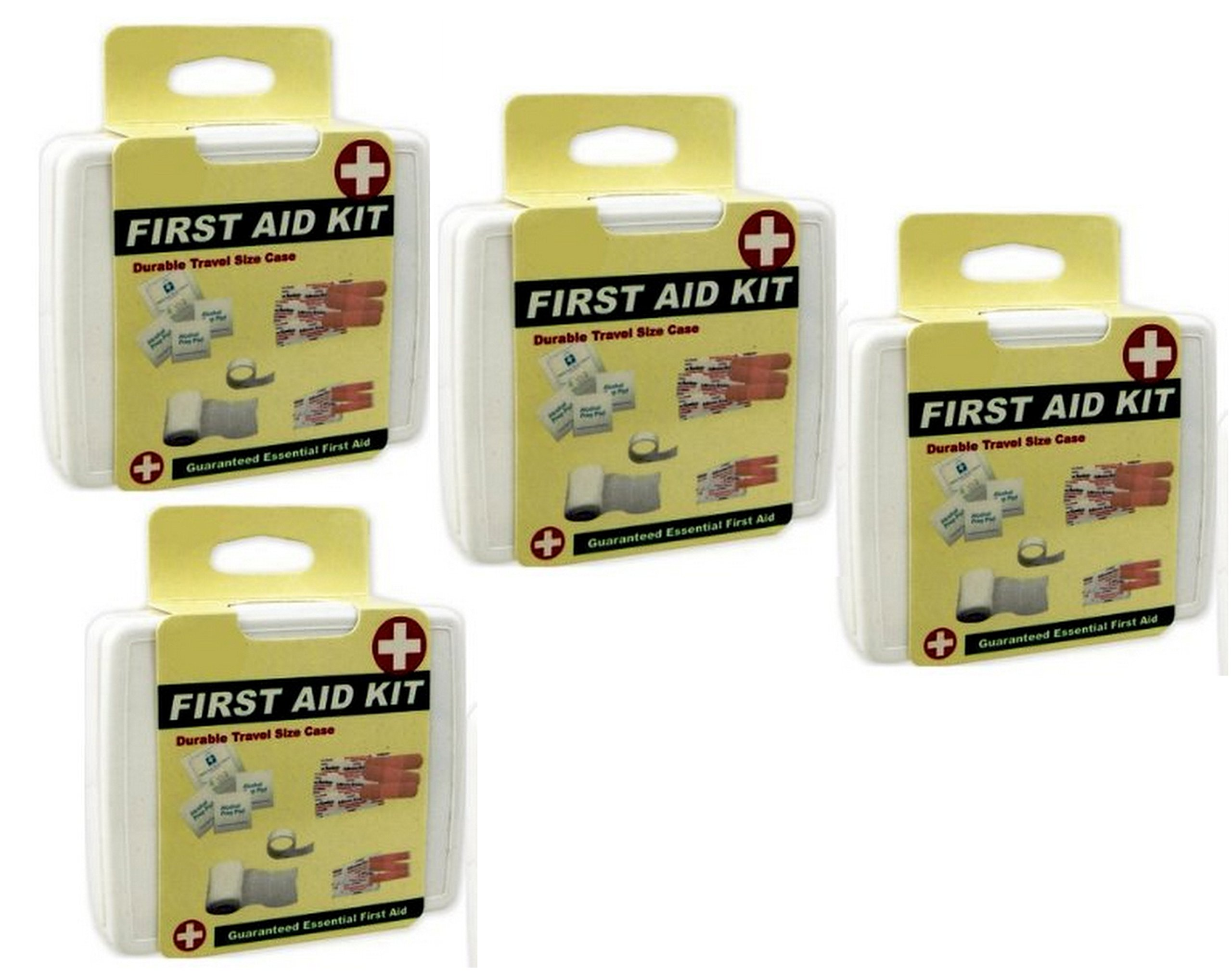 4 ALAZCO Compact Mini ''To-Go'' First Aid Kit Travel Camping Car Boat Gym Bag Purse