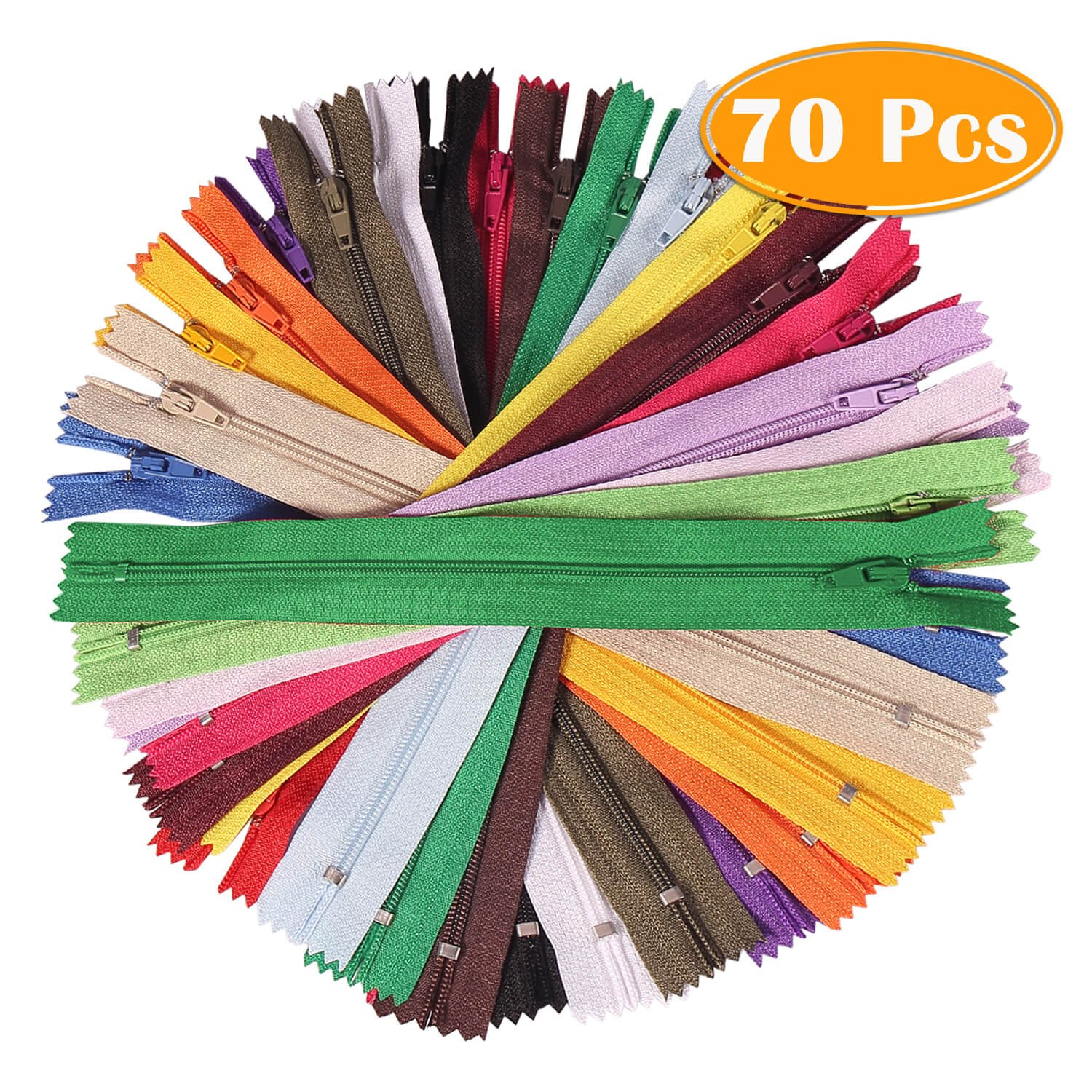 Paxcoo 70Pcs 12 inch Assorted Zippers Bulk for Sewing Craft 4337006513