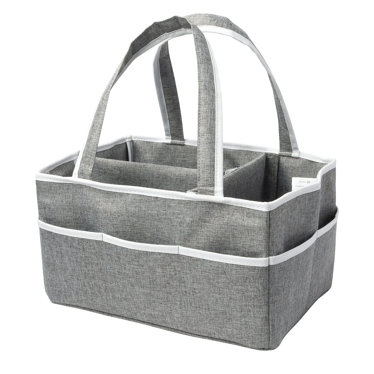 Diaper Caddy - Portable Diaper Caddy Organizer, Baby Caddy, Trend Diaper Basket, Baby Shower Gifts, Baby Caddy Storage, Nursery Storage Bin, Foldable Travel Car Caddy for Baby Boys Girls Moms (Gray)
