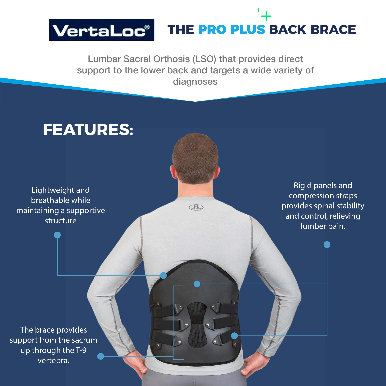 VertaLoc Pro Plus Medical Grade Back Brace and Support for Lower Back Pain by VERTALOC, INC. (Image #4)