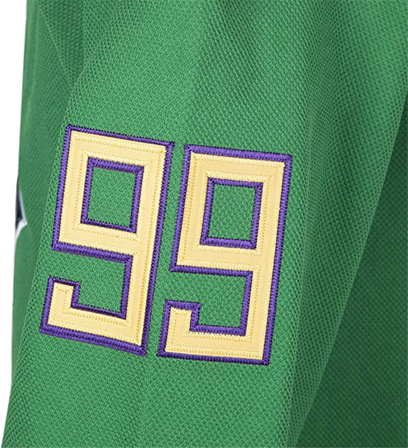 Banks 99 The Mighty Ducks Jersey S-XXXL Green White 90S Hip Hop Clothing Stitched