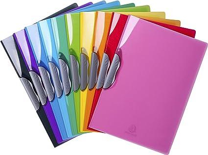 5x DURABLE Klemmmappe Clip-Mappe SWINGCLIP DIN A4 30 Blatt farbig sortiert