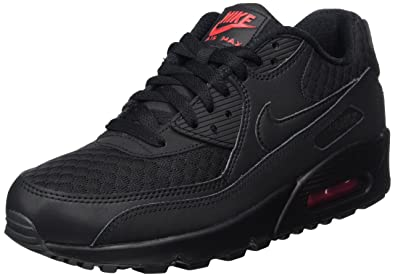 huge selection of f6ffd c7e96 NIKE Men  s Air Max 90 Essential Running Shoes, Black Metallic Silver