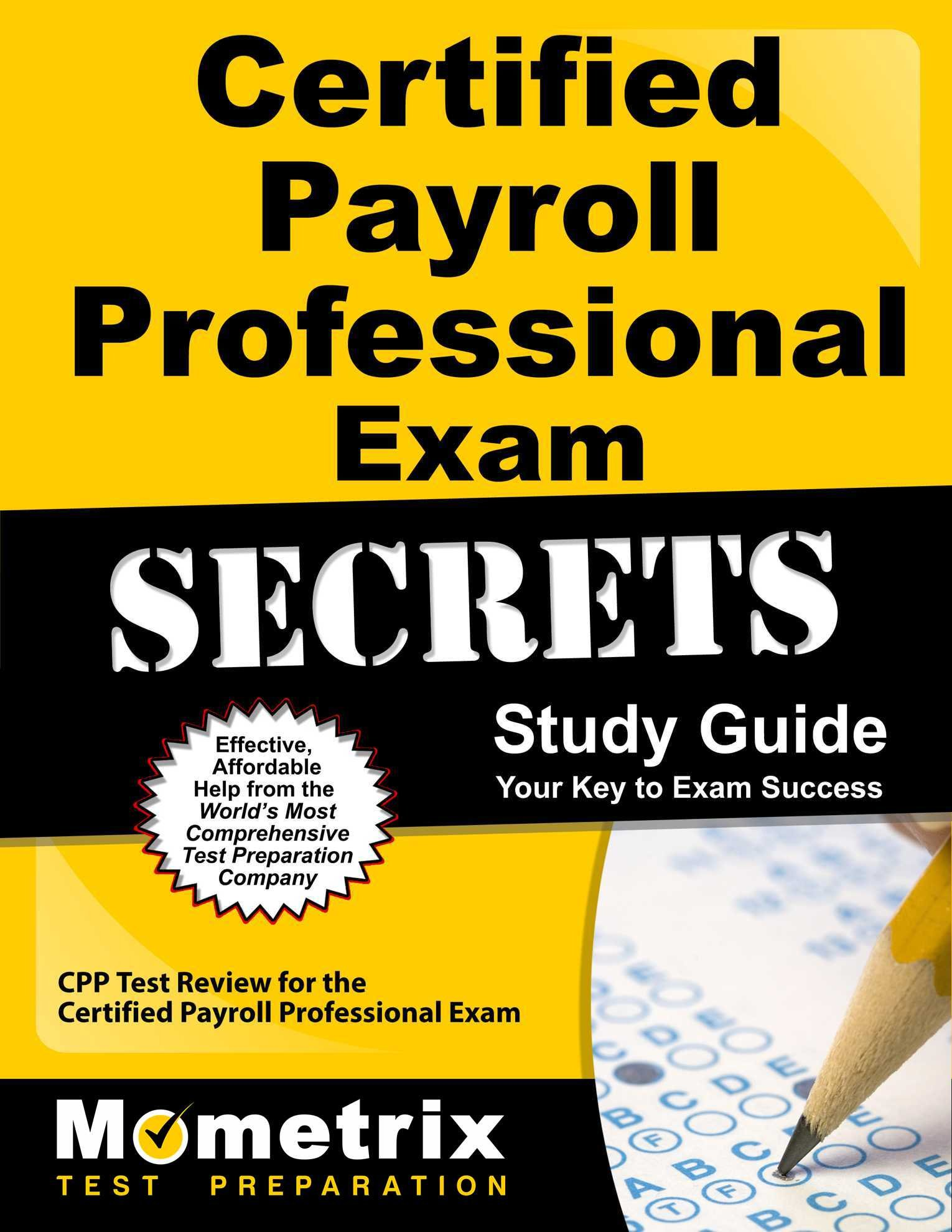 Buy Certified Payroll Professional Exam Secrets Cpp Test Review For