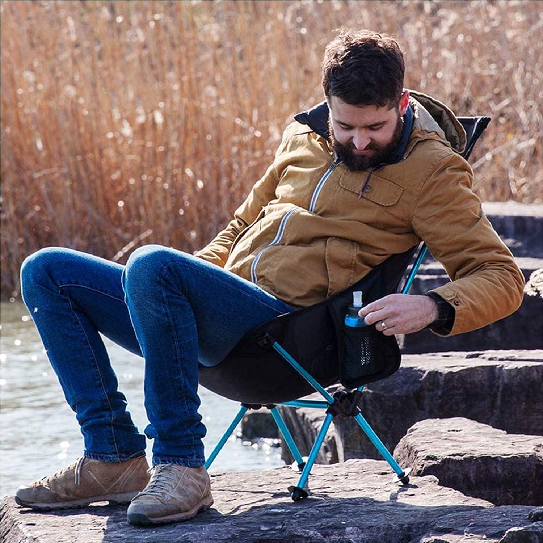 XSWL Ultraleichter Camping-Stuhl, Folding High Back Compact Stühle, Atmungsaktiv Und Portable Für Reise, Picknick, Angeln, Wandern, Backpacking Black