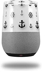 Decal Style Skin Wrap for Google Home Original - Nautical Anchors Away 02 White (Google Home NOT Included) by WraptorSkinz