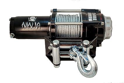 Amazon.com: DK2 C2500N Warrior Ninja ATV/UTV Electric Winch ...