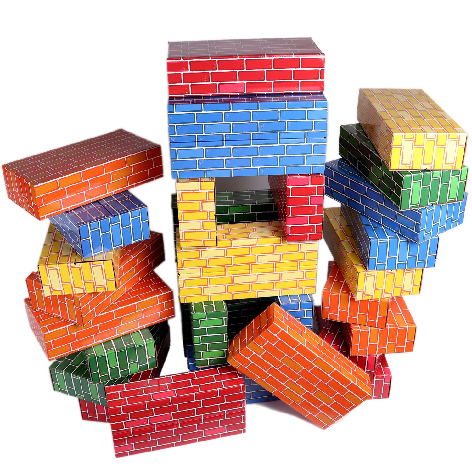 30-Pack Jumbo Blocks: Extra-Thick Cardboard Building Blocks in 5 Bright Colors by Tenby Living Review