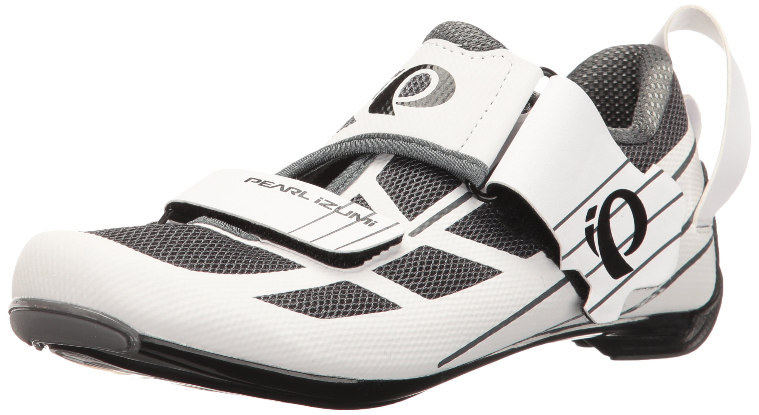 Pearl iZUMi Women's W Tri Fly Select V6 Cycling Shoe, White/Shadow Grey, 42 EU/10 B US by Pearl iZUMi (Image #1)