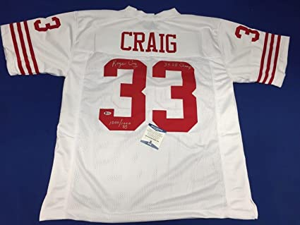 2d9519231 Image Unavailable. Image not available for. Color  Roger Craig Signed White  49ers ...