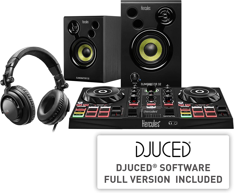 Hercules DJLearning Kit: Controladora de DJ USB de 2 decks DJControl Inpulse 200 + Auriculares HDP DJ45 + Altavoces de monitorización DJMonitor 32: Hercules: Amazon.es: Instrumentos musicales