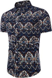 Chemises Homme Chemises Hawaiennes Homme Chemises BoutonnéEs Grande Taille Chemise à Manches Courtes pour Hommes HCFKJ - MS