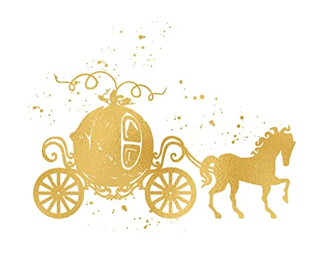 amazon com cinderella s carriage inspired by cinderella and rh amazon com cinderella pumpkin carriage clipart princess carriage clipart