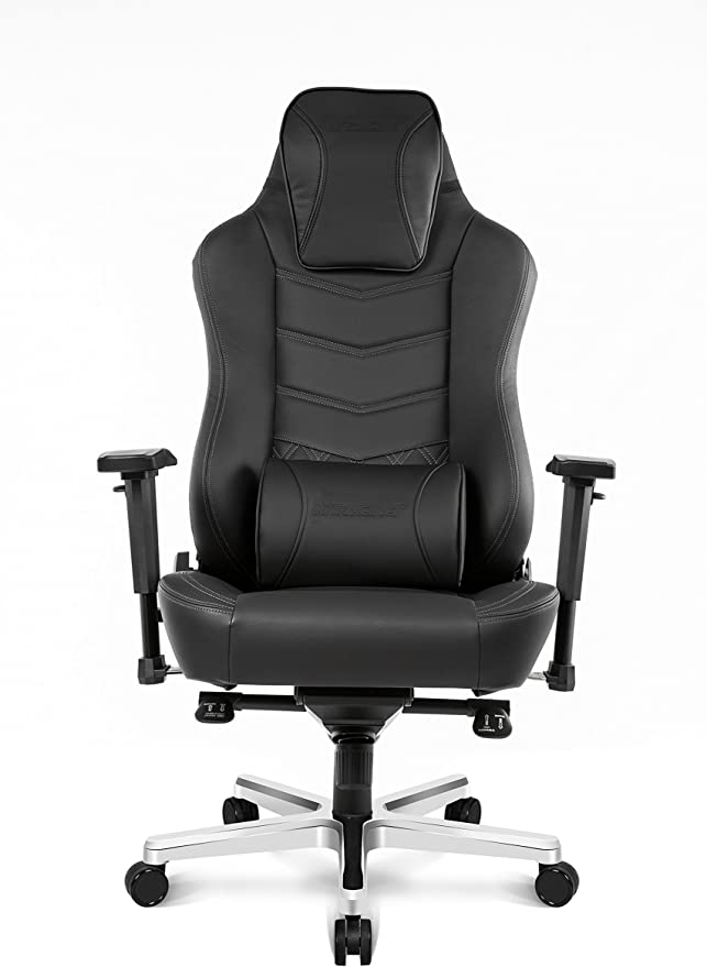 Amazon Com Akracing Office Series Onyx Deluxe Executive Real Leather Desk Chair With High Backrest Recliner Swivel Tilt Rocker Seat Height Adjustment Mechanisms 5 10 Warranty Black Furniture Decor