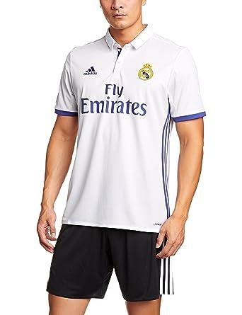 5310c9df 1ª Equipación Real Madrid CF 2016/2017 - Camiseta oficial para hombre  adidas, color blanco: Amazon.es: Ropa y accesorios