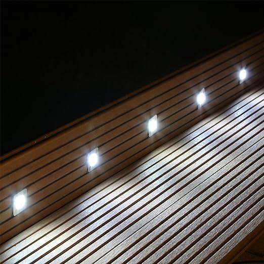 Foco LED empotrable de suelo Set para terraza jardín Escaleras y niveles Interior y Exterior suelo lámpara: Amazon.es: Iluminación