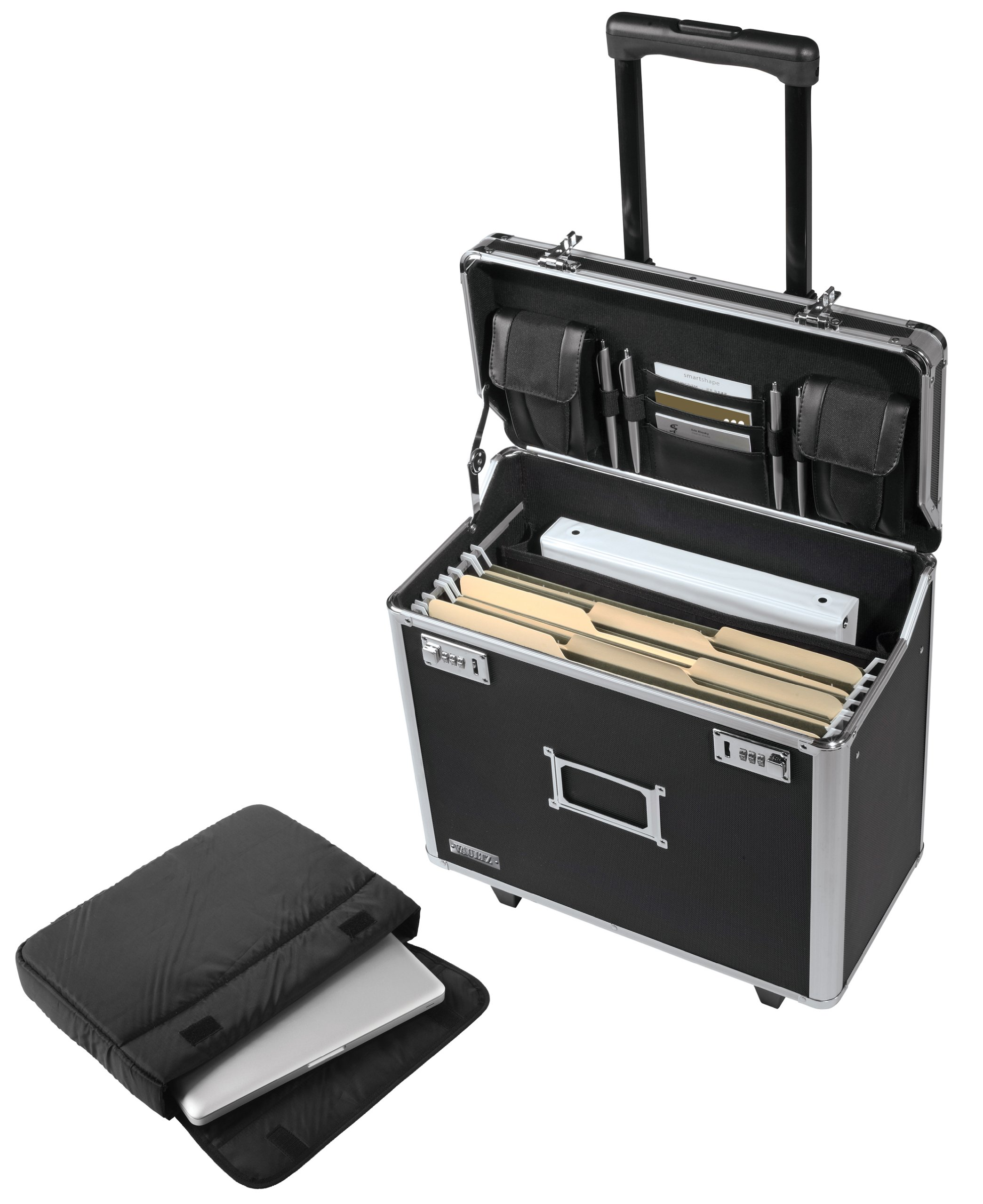 Vaultz Locking Mobile Business Case, Legal Size, 15 x 10 x 16 Inches, Black (VZ00194)