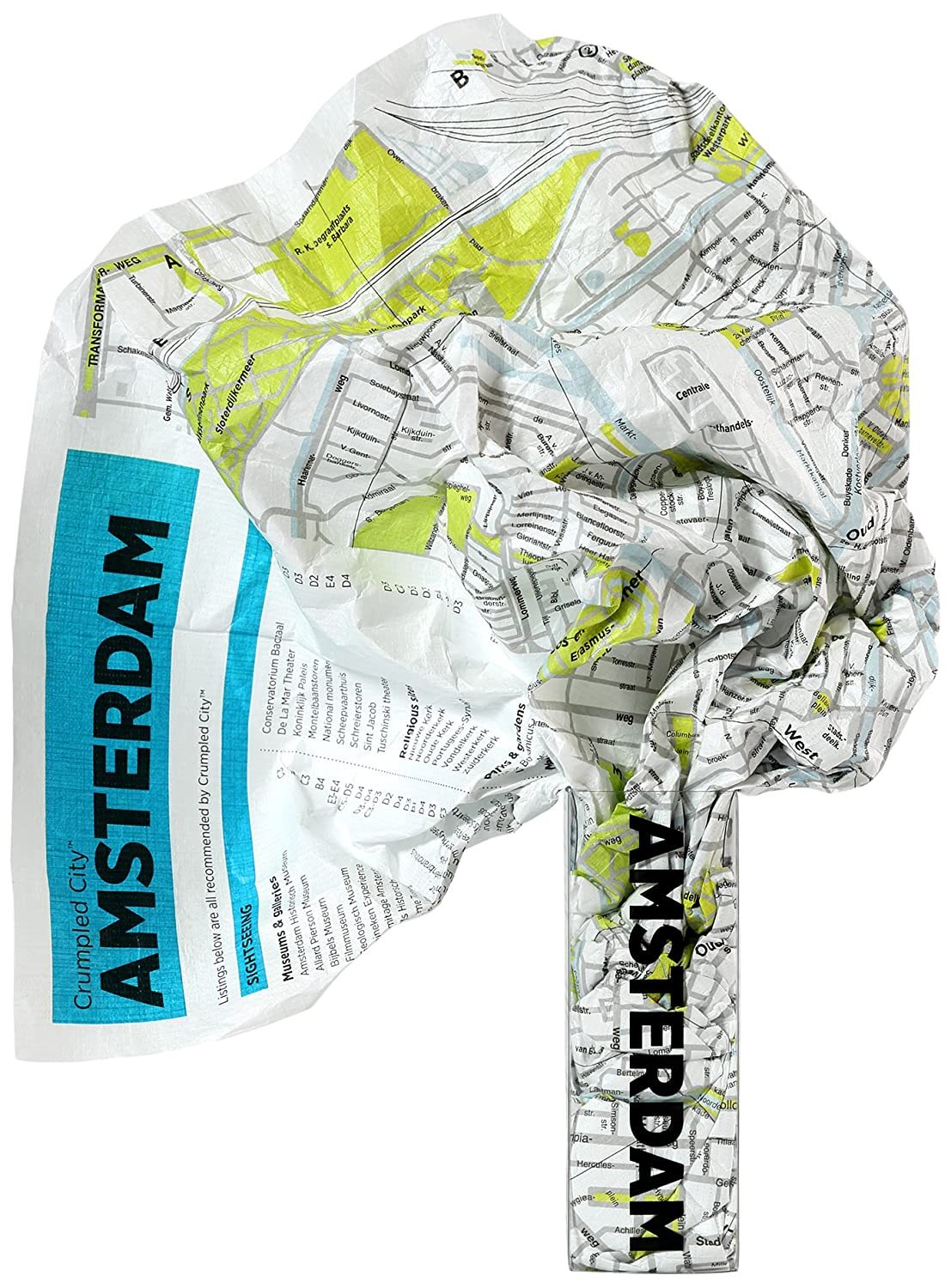 Crumpled city map. Amsterdam. Ediz. multilingue Crumpled City Maps Palomar (Firenze) MET00279 Paesi Bassi