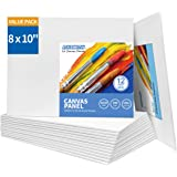 FIXSMITH Canvas Panels 12 Pack - 8x10 Inch Painting Canvas Panel Boards - 100% Cotton Primed Canvases - Super Value Pack…