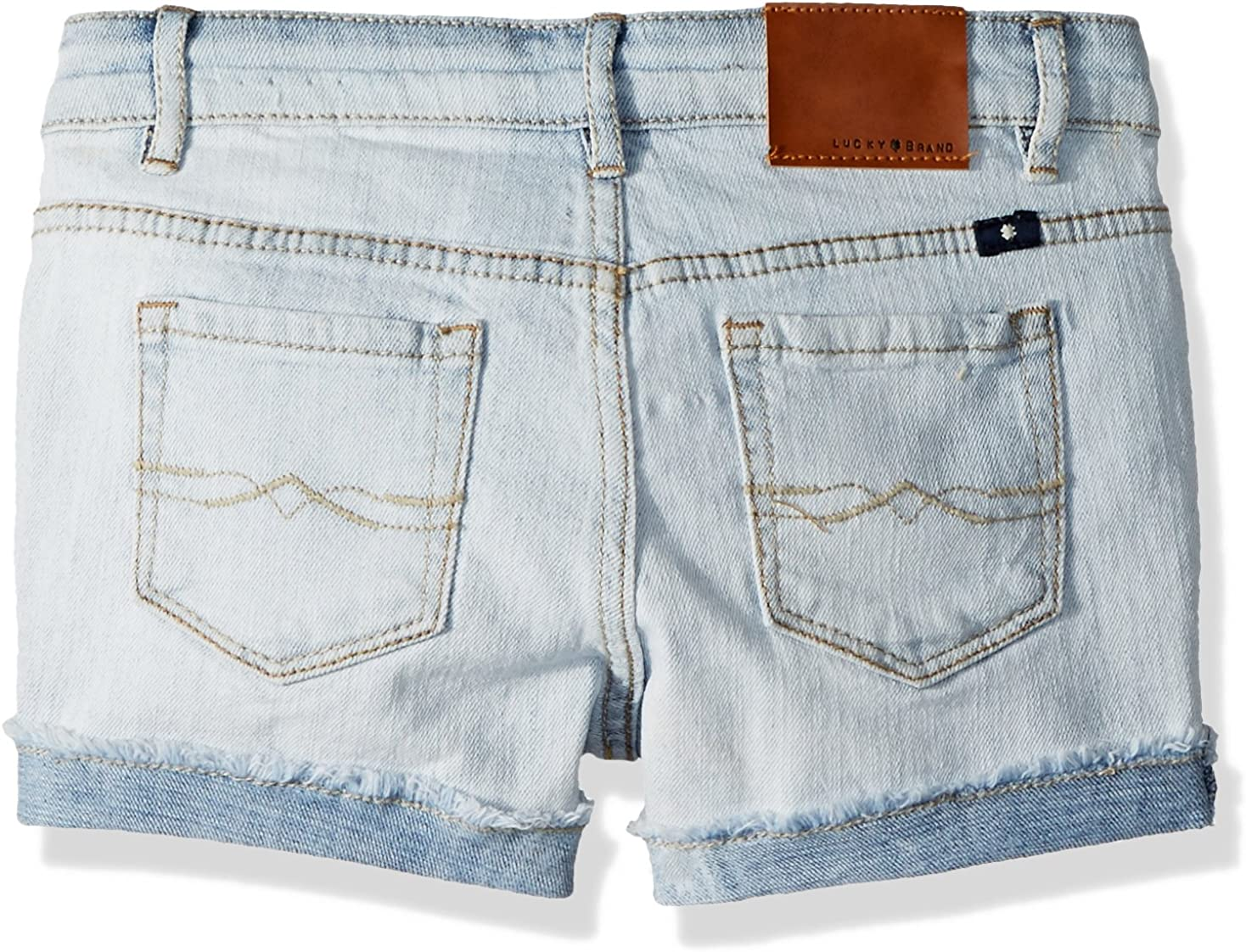 Lucky Brand Girls Ronnie Cuffed Denim Short Casual Shorts