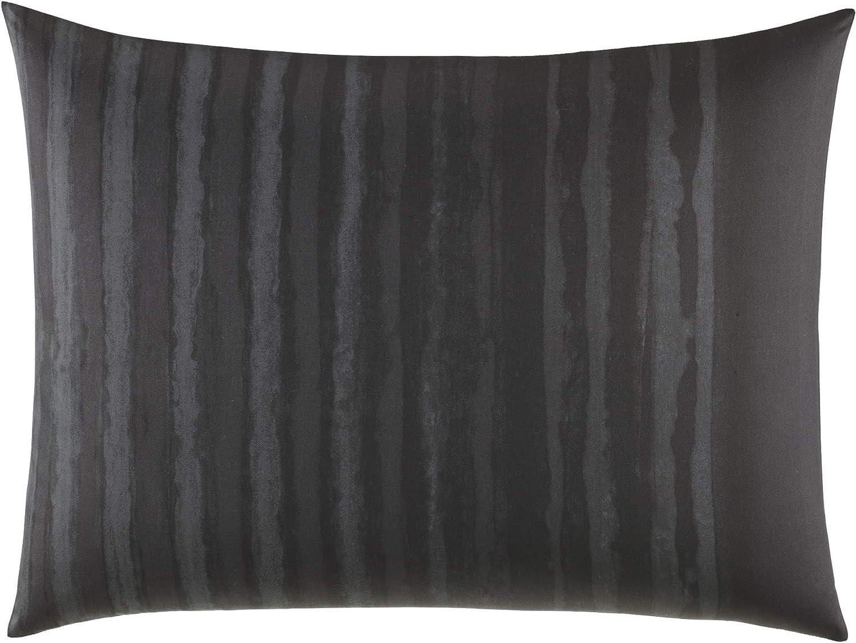 Vera Wang Shadow Stripe Standard Sham, Charcoal