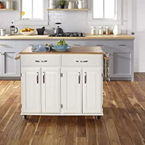 dolly madison kitchen island cart amazon com dolly madison white kitchen cart by home styles kitchen islands carts 5493