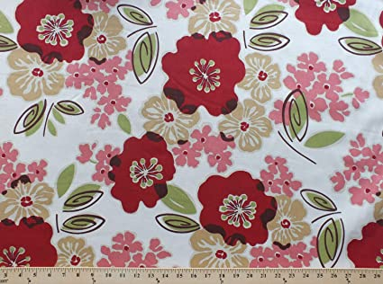 Amazoncom 54 Home Decor Flowers Red Large Tossed Floral And