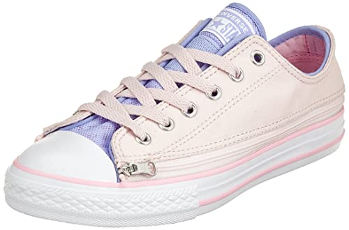 Converse Unisex Kids  CTAS Zip Star Ox Barely Rose Trainers  Amazon ... 34c278664e0b0