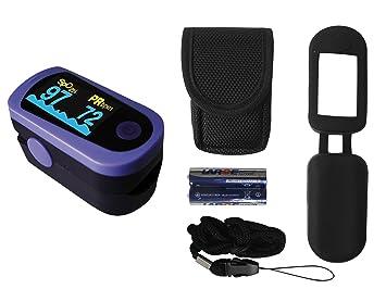 Tiga-Med MD300C23 - Oxímetro de pulso para dedo (incluye pila y accesorios, homologación CE)