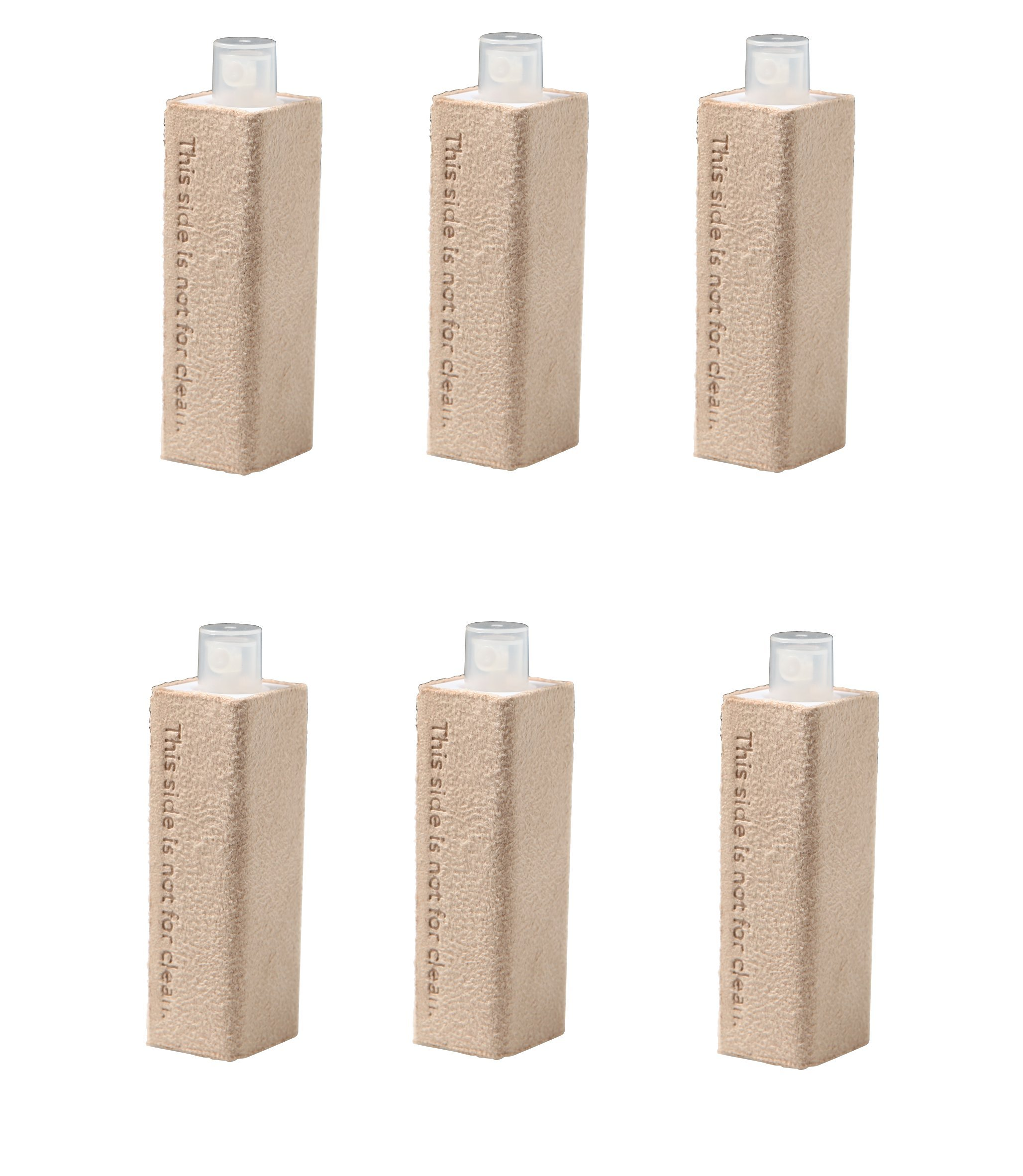 6 Pcs Tan Color Microfiber & Spray 2-in-1 Screen Cleaner for iPhones, iPads, Cell phones, Tablets, Laptops, any touchscreens - It's Portable & Compact (TAN-6pcs)