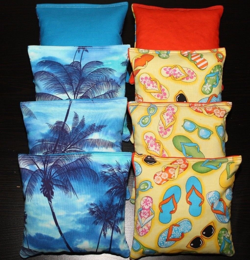Tropical Island Paradise Cornhole Bean Bags ACA Regulation Margaritavilleサンセット