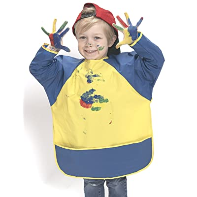 Peerless Plastics KinderMat Art Smock, Full Cover Water Proof Apron for Kids Arts and Crafts (Ages 3-6): Industrial & Scientific [5Bkhe1101749]