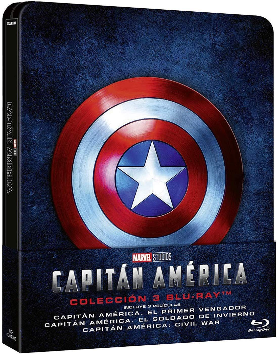 Steelbook Trilogía: Capitán América [Blu-ray]: Amazon.es: Chris ...