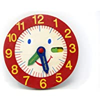 Fusine™ Hand Made Wooden Clock Toys for Kids - Learn Time Clock Educational Toys