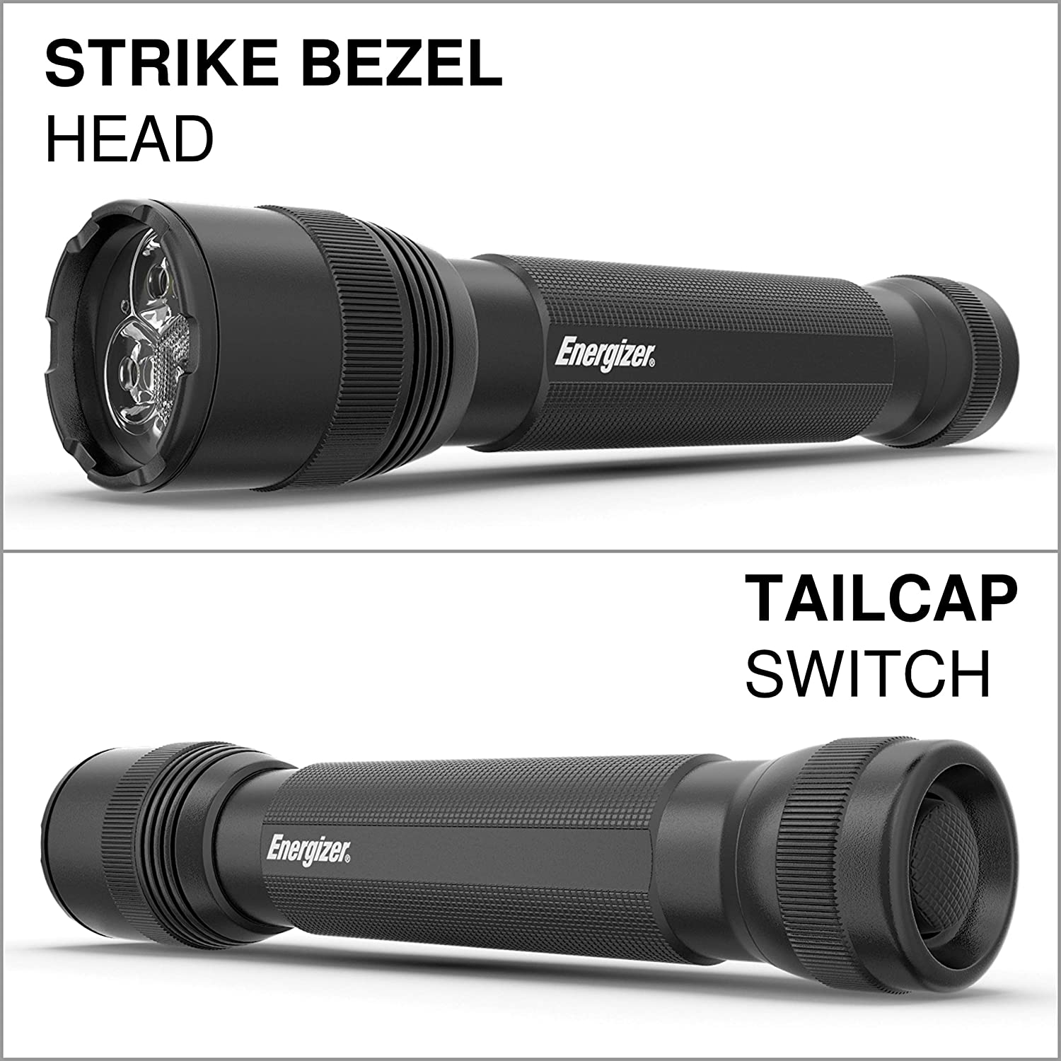 Energizer LED Tactical Flashlight, Super Bright High Lumens, Use for Hurricane Supplies, Survival Kit, Camping Accessories, Ultra-Durable and Water Resistant LED Flashlights, Black, 12.48: Sports & Outdoors