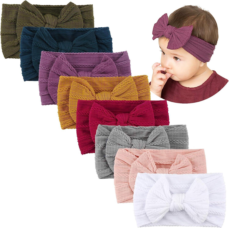 Baby Bow Headband Baby Headband SET Hair Bows Baby Shower Gift Velvet Bows Hand Tied Newborn Headband Nylon Headband Small Hair Bows