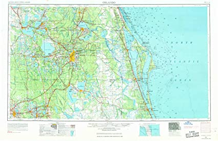 Amazon.com : YellowMaps Orlando FL topo map, 1:250000 Scale, 1 X 2 ...