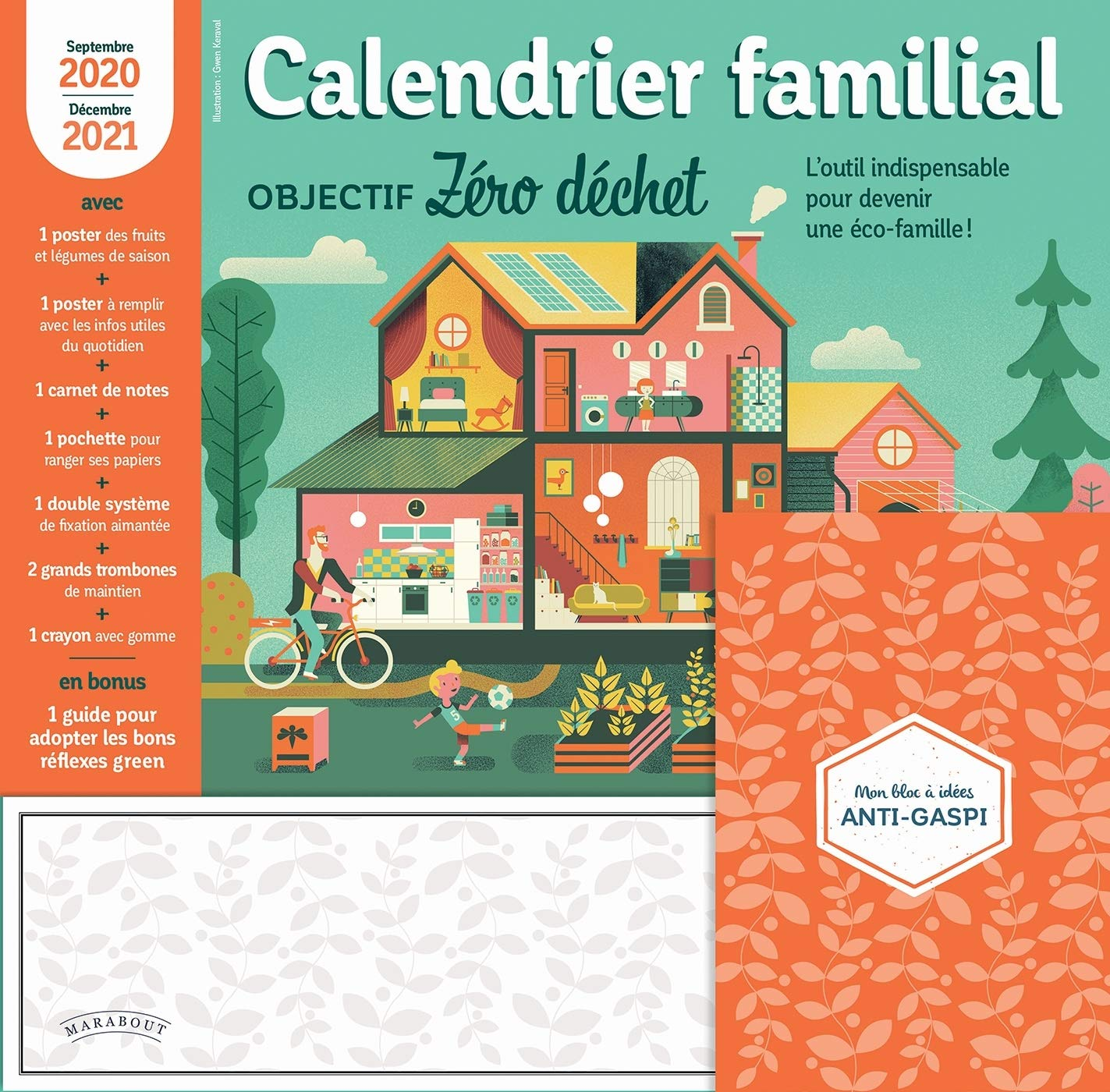 Calendrier Familial 2021 Calendrier familial objectif Zéro dechet 2020 2021 (Organisation