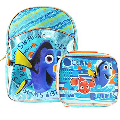 """Finding Dory """"Just Keep Swimming"""" Backpack & Detachable Lunchbox Set (Exclusive): Toys & Games"""