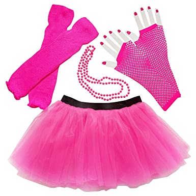 Amazon Womens Teen 80 Costume Accessories Tutu Leg Warmers Fishnet