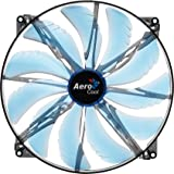 AeroCool SilentMaster LED Ventilateur PC 200 mm Bleu