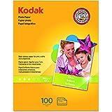 Kodak Glossy Photo Paper, 8.5 x 11 Inches, 100 Sheets per Pack (8209017) by Kodak