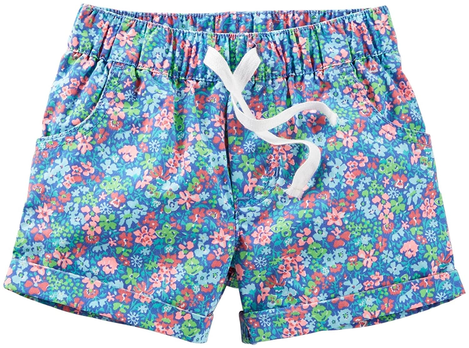 Blue-3 Months Baby Carters Floral Woven Shorts